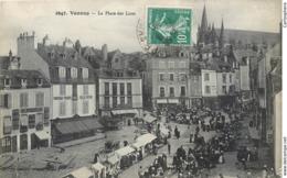 CPA 56 Morbihan Vannes La Place Des Lices Marché Felix Potin - Boudin - Boulangerie - Marquet - Vannes