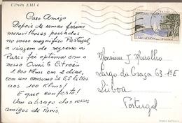 France  & Marcofilia, Citroen AMI 6, Paris A  Lisboa Portugal 1962 (9954) - France