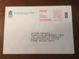 PAP REPONSE ACTION ENFANCE FONDATION MOUVEMENT POUR LES VILLAGES D'ENFANTS 143036 - Postal Stamped Stationery