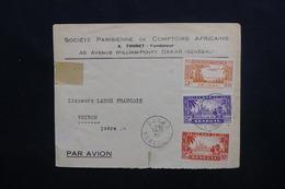 SÉNÉGAL - Enveloppe Commerciale De Dakar Pour La France En 1945 Affranchissement Plaisant  - L 48784 - Sénégal (1887-1944)