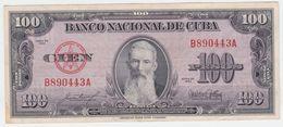 Cuba P 82 B - 100 Pesos 1954 - AUNC - Cuba