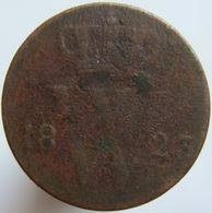 Netherlands 1/2 Cent 1823 B VG - [ 3] 1815-… : Kingdom Of The Netherlands