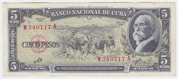 Cuba P 91 C - 5 Pesos 1960 - XF - Cuba