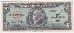 Cuba P 92 - 5 Pesos 1960 - XF - Cuba