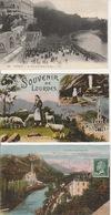 19 / 12 / 107. -   LOURDES. ( 65 )  LOT  DE  6   C P A  - Toutes Scanées  Dos  -  Divisé         Circulé   -  Oui   Non - Postkaarten
