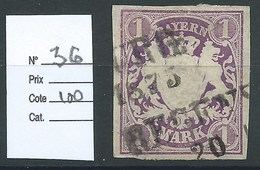 ALLEMAGNE - BAVIERE : N° 36. Cote 100€ - Bavaria