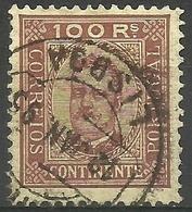 Portugal - 1892 King Carlos  100r Used   Sc 75 - 1892-1898 : D.Carlos I