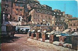 ARTENA - PIAZZA DELLA VITTORIA SCORCIO (STRISCIONE VOTA STELLA E CORONA X ELEZIONI) - Italy