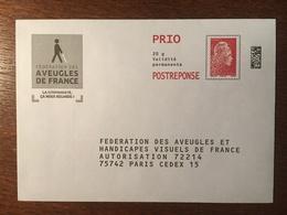 PAP REPONSE FEDERATION DES AVEUGLES ET HANDICAPES VISUELS DE FRANCE 209322 - Prêts-à-poster: Réponse