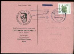 05990 DDR 3345 EF Karte VGO Orts DS Chemnitz 1990 - [6] République Démocratique