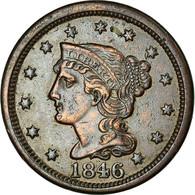 Monnaie, États-Unis, Braided Hair Cent, Cent, 1846, U.S. Mint, Philadelphie - Émissions Fédérales
