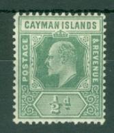 Cayman Islands: 1907/09   Edward   SG25   ½d   MH - Cayman Islands