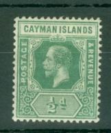 Cayman Islands: 1912/20   KGV    SG41   ½d    MH - Cayman Islands