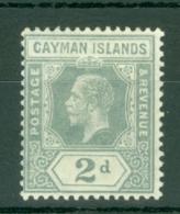 Cayman Islands: 1912/20   KGV    SG43   2d    MH - Cayman Islands