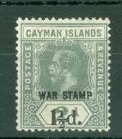 Cayman Islands: 1919/20   KGV 'War Stamp' OVPT  SG58   1½d On 2d   MH - Cayman Islands