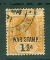 Cayman Islands: 1919/20   KGV 'War Stamp' OVPT  SG59   1½d On 2½d   Used - Cayman Islands