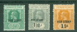 Cayman Islands: 1919/20   KGV 'War Stamp' OVPT Set   MH - Cayman Islands