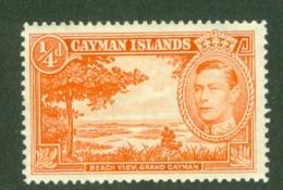 Cayman Islands: 1938/48   KGVI   SG115a   ¼d    [Perf: 13½ X 12½]   MH - Cayman Islands