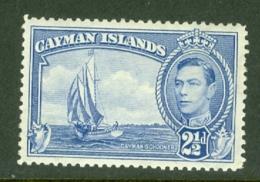 Cayman Islands: 1938/48   KGVI   SG120   2½d  Bright Blue   MH - Cayman Islands