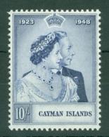 Cayman Islands: 1948   Royal Silver Wedding   SG130   10/-   MH - Cayman Islands