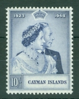 Cayman Islands: 1948   Royal Silver Wedding   SG130   10/-   MH - Kaaiman Eilanden