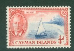 Cayman Islands: 1950   KGVI   SG135   ¼d   MNH - Cayman Islands