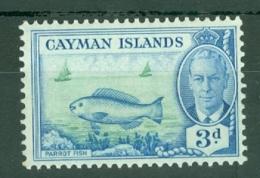 Cayman Islands: 1950   KGVI   SG141   3d   MNH - Cayman Islands