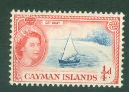 Cayman Islands: 1953/62   QE II - Pictorial   SG148   ¼d   Deep Bright Blue & Rose-red   MNH - Cayman Islands