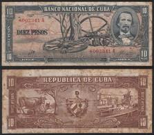 Cuba REPLACEMENT STAR P 88 C - 10 Pesos 1960 - Fine+ - Cuba