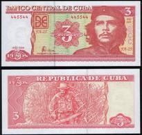 Cuba RADAR 445544 P 127 - 3 Pesos 2004 - UNC - Cuba