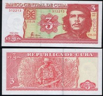 Cuba RADAR 312213 P 127 - 3 Pesos 2004 - UNC - Cuba