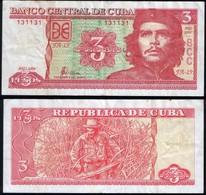 Cuba RADAR 131131 P 127 - 3 Pesos 2004 - VF - Cuba