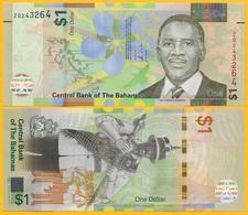 Bahamas1 Dollar P-77 2017 REPLACEMENT (prefix Z) UNC Banknote - Bahamas