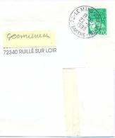 BANDE JOURNAL TàD 72 - LE MANS-Ctre-DE-TRI- SARTHE Du 22-11-199 - TIMBRE MARIANNE 14 JUILLET 2f.70 Vert YT 3091 - Storia Postale