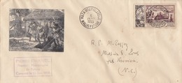 LETTRE WALLIS FUTUNA. MATA-UTU. 5 JANV 55. PIERRE CHANEL PREMIER MISSIONAIRE DE FUTUNA CANONISE  / 2 - Wallis-Et-Futuna