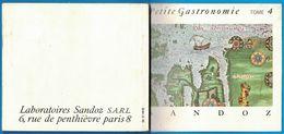 LIVRET PETITE GASTRONOMIE PAYS SCANDINAVES TOME 4 LABORATOIRES SANDOZ 6 RUE DE PENTHIEVRE PARIS - Advertising