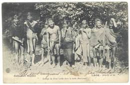 Cpa Laos , Groupe De Khas Loves Dans La Forêt .. ( Collection Raquez ) - Laos