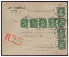 Dt-Reich (007588) Weimar Einschreiben MEF Schiller Eine Marke Fehlerhaft, Gelaufen Leipzig Nach Breslau Am 28.1.1927 - Deutschland