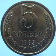 Russia 5 Kopeks 1983 UNC - Russia