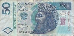 N. 1  Banconota Da  50  ZLOTYCH  -  POLONIA  /  Anno 1994. - Polonia