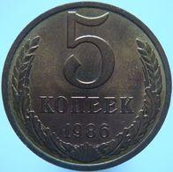 Russia 5 Kopeks 1986 UNC - Russia
