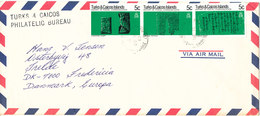 Turks And Caicos Air Mail Cover Sent To Denmark 11-12-1980 - Turks And Caicos