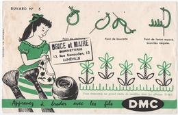 """BUVARD. LUNEVILLE (54) APPRENEZ à BRODER AVEC Les FILS """" D.M.C. """" BONNETERIE BRICE Et MAIRE. - Textilos & Vestidos"""