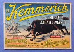 CHROMO KEMMERICH...SARDINES ET CONSERVES AMIEUX...IMP. GUENEUX...TAUREAU    COW-BOY - Chromos