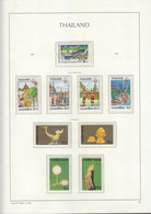 Sheets Leuchtturm For Thailand 1987. Attention!!! Sheets Sold Without Stamps. - Thailand