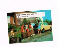 On Revient Le...Wij Komen Naar Huis Op... (Départ En Vacances) - Cartes Postales