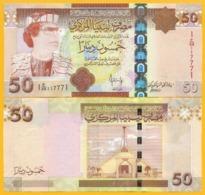 Libya 50 Dinars P-75 2008 UNC Banknote - Libya