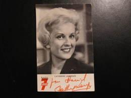 Carte Autographe - CATHERINE LANGEAIS - POUR DANIEL - TELE 7 JOURS - Autografi