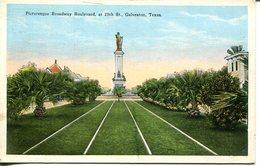 Picturesque Broadway Boulevard, At 25th St., Galveston  (007700) - Galveston