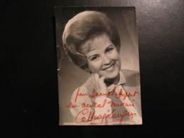 Carte Autographe - CATHERINE LANGEAIS - POUR DANIEL DUPONT UN AMICAL SOUVENIR - Autographes